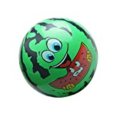 "Watermelon Face Children Inflatable Blow-up Ball Beach Pool Toy 8.66"" Green"