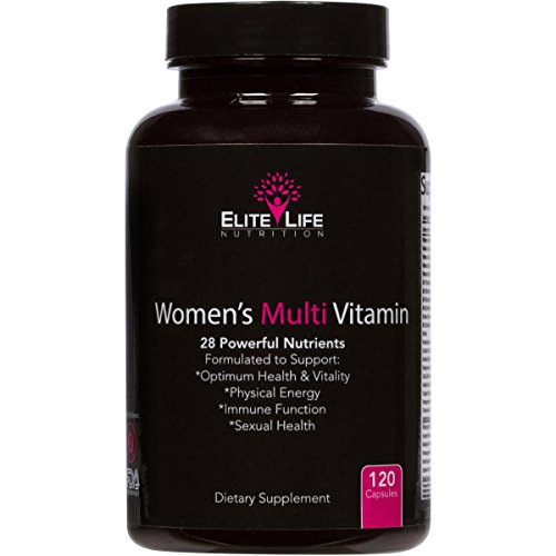 Womens Multi Vitamin - 28 Powerful Nutrients, Vitamins, and Minerals - Best Multivitamin for Women - Supports Optimum Health, Physical Energy, Immune System, and Maximum Vitality - 120 Capsules
