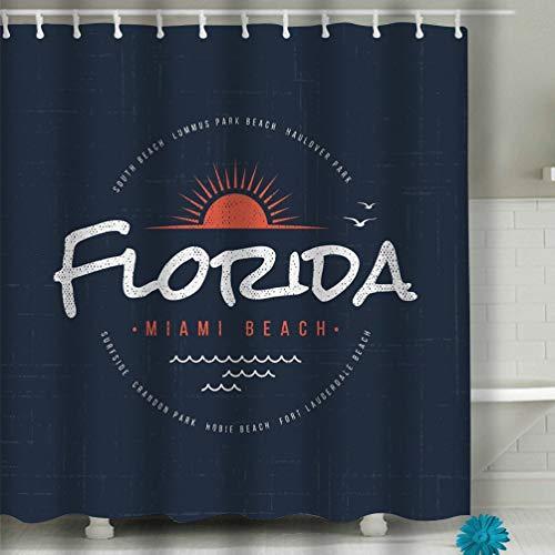 (zexuandiy High Resolution Photography Home Postcard Decor Shower Curtain 60