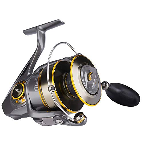 HaiBo Saltwater Spinning Reel with Corrosion Resistant, Max 61.7 lbs Drag is Ideal Conquering Big-Game Fishing, Surf Fishing - Durable & Punishing Saltwater Battles