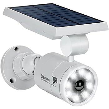 Solar Lights Outdoor Motion Sensor,1400-Lumens Bright LED Spotlight 5W(110W Equiv.)DrawGreen Solar Lights Outdoor Wireless Security Lighting for Porch Patio Garden,Aluminum Solar Powered Lights(White)