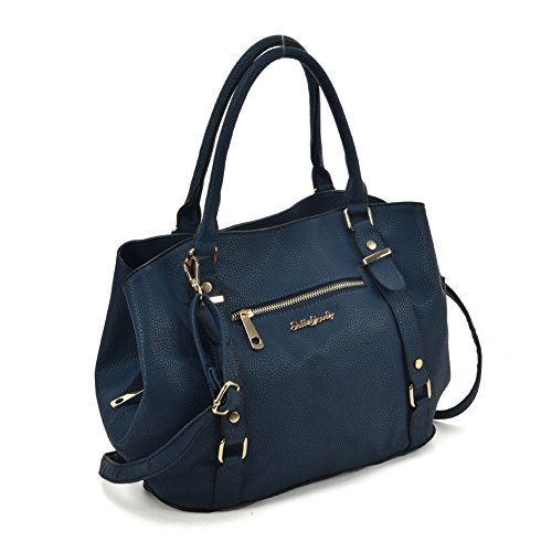 Zip Handbag Nice YOUNG Women Navy Front Tote Fashion Bag SALLY wc6HtqZWt