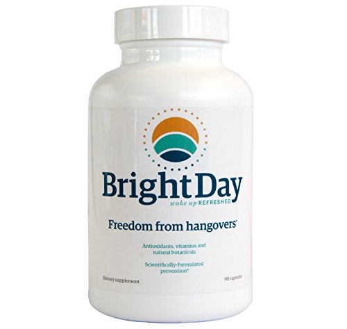 BrightDay Hangover Prevention Pills - 100% Guaranteed - Cure Hangovers Before They Start