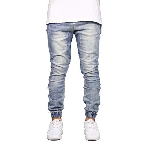 Scuro Abiti Uomo Hip Joggers Hop Denim Vintage Tempo Comode Jeans Stretch Lunghi Pantaloni Design Taglie Da Fashion Libero Blu pqwaAA