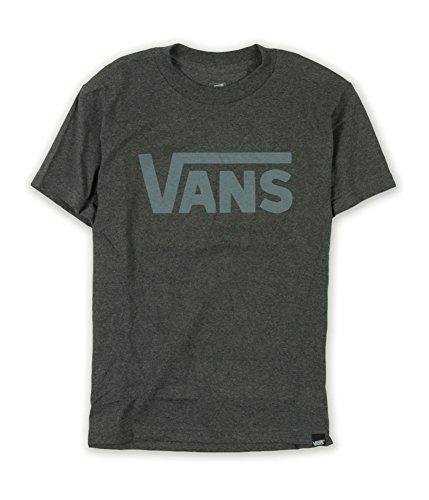 Vans Men's Classic Logo Graphic T-Shirt (Medium, Charcoal Heather/Grey)