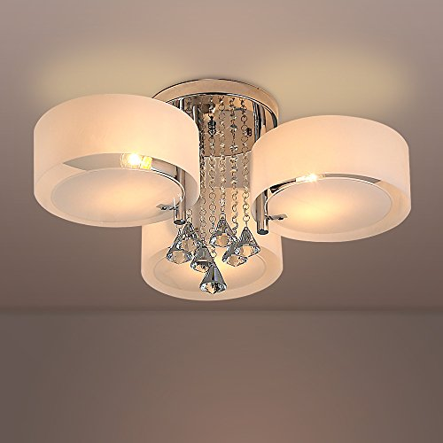 Crystal Ceiling Material Lampshade 3 Lights product image