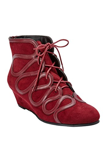 Burgundy by Esmee Comfortview Bootie Plus Comfortview Size 4wxfHxpqY