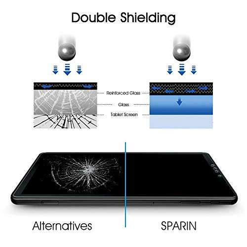 [2 Pack] Galaxy Tab S4 Screen Protector, SPARIN Tempered Glass, S Pen  Compatible, Easy Install, Scratch Resistant Screen Protector for Samsung  Galaxy