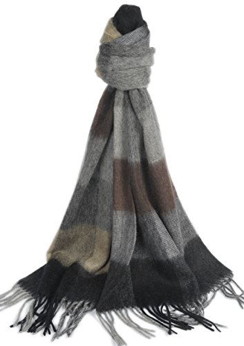 Wool Winter Neck Scarf Or Shawl Wrap Solid/Plaid Scarves Men Women