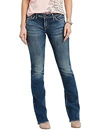 Suki Curvy Fit Mid Rise Slim Bootcut Jeans