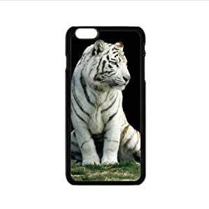Cool design white tiger pattern,Amazing tigers art Custom Case for iPhone6 4.7inch PC case cellphone cover black