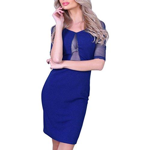 Amanod Valentine's Day Sexy Fashion Womens Sexy Bodycon Dress Ladies Club Party Perspective Mini Dress