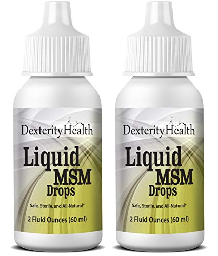 Dexterity Health Liquid MSM Eye Drops 2-Pack of 2 oz. Squeeze-Top Bottles, 100% Sterile, Vegan All-Natural and Non-GMO, Contains Organic MSM (Best Eye Supplements For Diabetics)