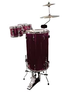 GP Percussion GP75WR Cocktail Drum Set (Wine Red)