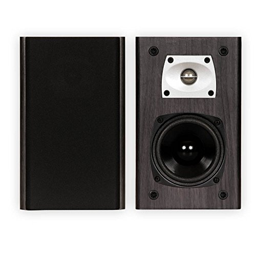 Theater Solutions B1 Black Bookshelf Speakers Surround Sound Home Theater Speaker Pair