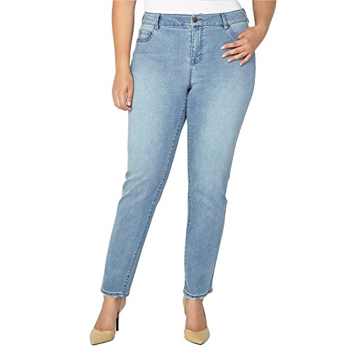 -AVENUE Women's 1432 Straight Leg Jean in Medium, 18 Medium Wash