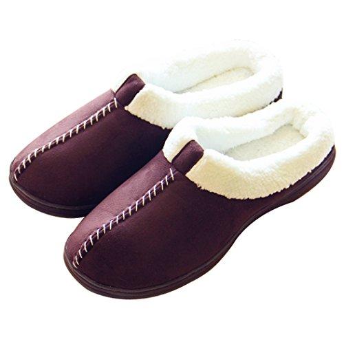 Alluci Scarpe Da Donna Accoglienti In Pelle Scamosciata Memory Foam Pantofole Caffè