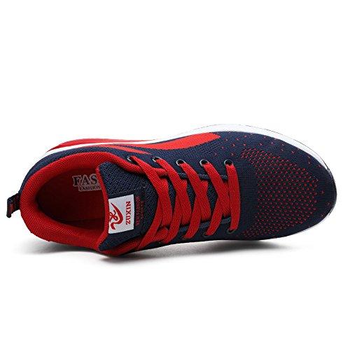 Zr629lanhong38 Femmes Enllerviid Maille Air Max Sport Chaussures De Course Mode De Marche Baskets Rouge 6.5 B (m) Us