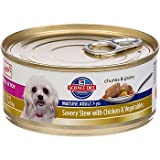 Hill's Science Diet Savory Stew with Chicken and Vegetables Small and Toy Mature Adult Canned Dog Food, 5.5 oz., Case of 24, My Pet Supplies