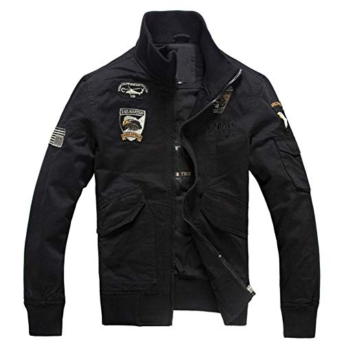 Men's Pilot Military Jacket Air Force Flight Slim Casual Cotton Bomber Jackets