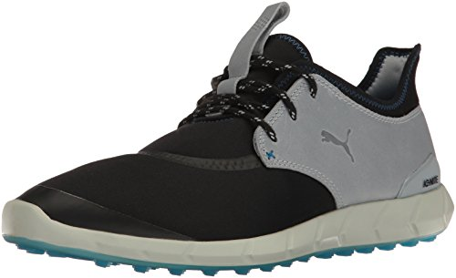 Puma Golf Men's Ignite Spikeless Sport Shoes, Puma Black-Quarry-French Blue, 11 Medium US
