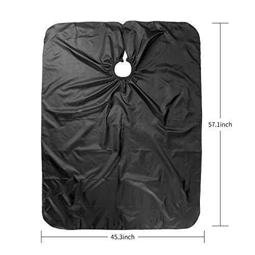 Hair Cutting Barber Salon Cape for Adults and Kids - Waterproof, Light Polyester Taffeta Fabric with easy closure (2 Pack) by K-Beauty (Image #1)