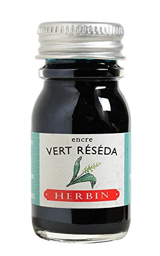 J. Herbin 11508T Smoke (1 Ink Bottle for Fountain Pen 10 ml) Reseda Green