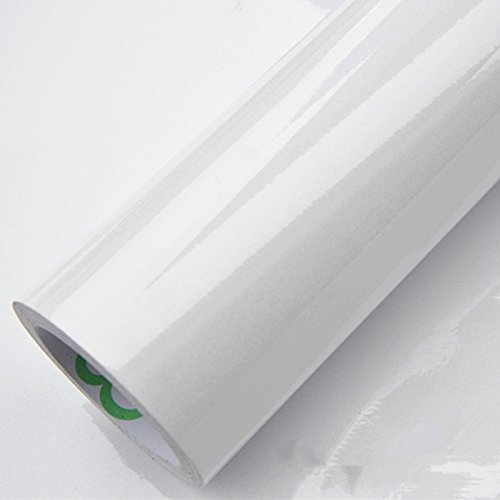 Arcingsa - DIY Vinyl Contact Paper PVC Self adhesive Wallpaper Bathroom Kitchen Cabinet Wall Sticker Wardrobe Waterproof Home Decor Decals [ 60CM*5M White ] B07KG1CFLW 60CM*5M|White White 60CM*5M
