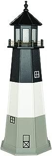 product image for DutchCrafters Decorative Lighthouse - Wood, Oak Island Style (Light Grey/Black/White, 3)