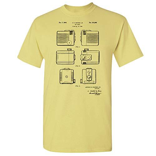 Kodak Brownie Camera T-Shirt, Photographer Gift, Vintage Camera, Cameraman Gift, Film Student, Darkroom Developing Cornsilk (Medium)