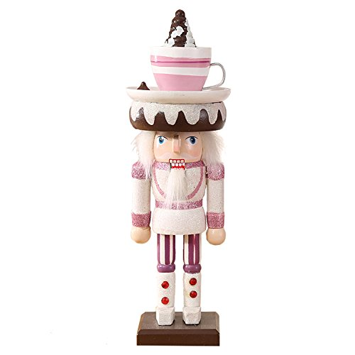 "Oottati Christmas Workshop Puppet Wooden Nutcracker Girl 25cm 10"" Pink Snow Coffee"