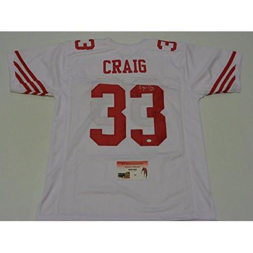 504109f769a free shipping Roger Craig Autographed Jersey - white GTSM HOLO & COA - GTSM  Certified - Autographed NFL Jerseys
