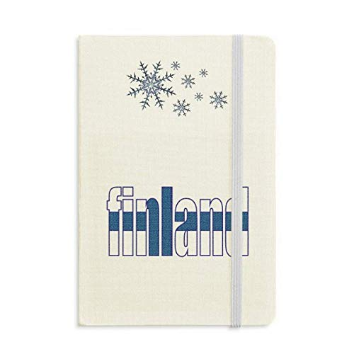 - Finland Country Flag Name Notebook Thick Journal Snowflakes Winter
