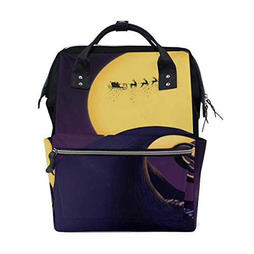Nightmare Halloween Before Christmas Diaper Backpack Large Multi-Function