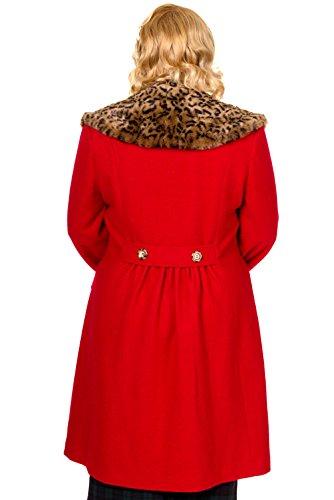 Rouge Noir Plus Banni 2xl Size Vintage Rouge Manteau 4xl Ou xHqOAz