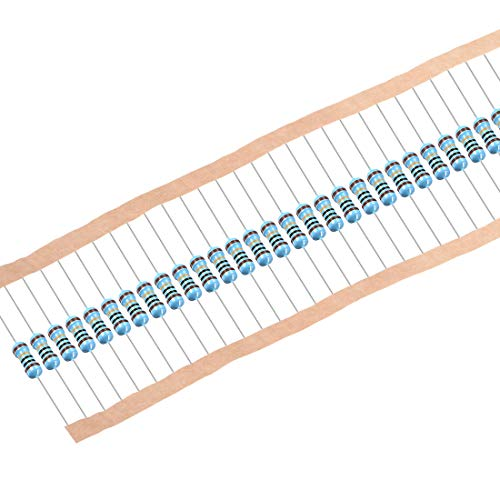 uxcell 100Pcs 10 Ohm Resistor, 1/2W 1% Tolerance Metal Film Resistors, Axial Lead, 5 Bands for DIY Electronic Projects and Experiments