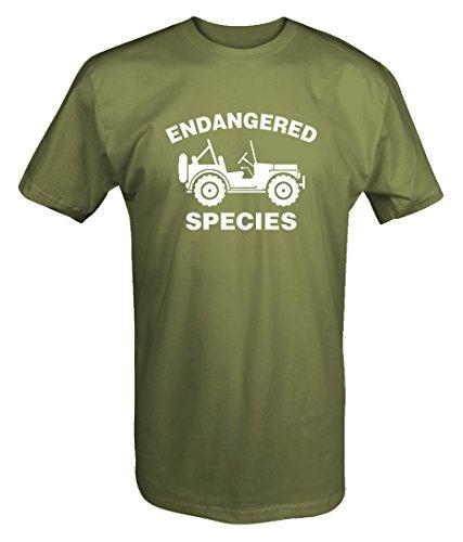 Endangered Species - Jeep Wrangler T Shirt- Large