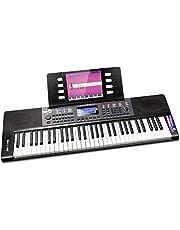 RockJam Draagbaar toetsenbord 61 toetsen in originele grootte 61 Key zwart