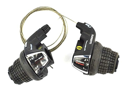 Speed Shift Twist Grip (Shimano RevoShift SL-RS35 Friction 3x7 Speed Shift Lever Set Right/Left 21 Speed Twist)