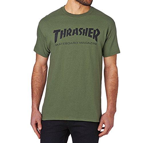 Thrasher Skate Mag Logo T-Shirt Army Green