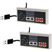 CC&SS 2 Packs USB Controller for Classic Nintendo NES, USB Famicom Game Gaming Controller Joypad Gamepad for Laptop Computer Windows PC/MAC/Raspberry Pi