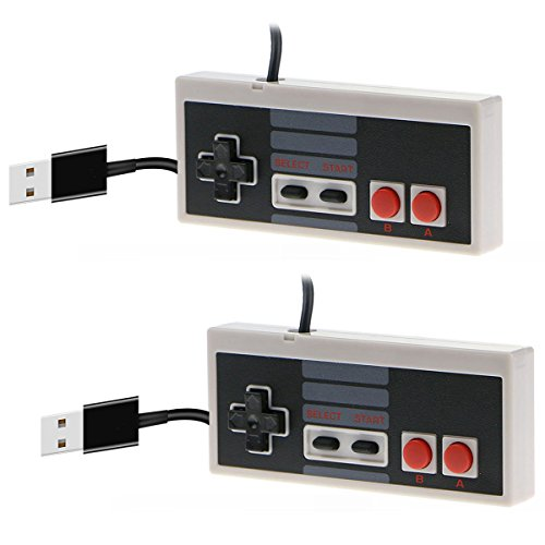 CC&SS 2 Packs USB Controller for Classic Nintendo NES, USB Famicom Game Gaming Controller Joypad Gamepad for Laptop Computer Windows PC/MAC/Raspberry Pi - Kid Nintendo Nes Game