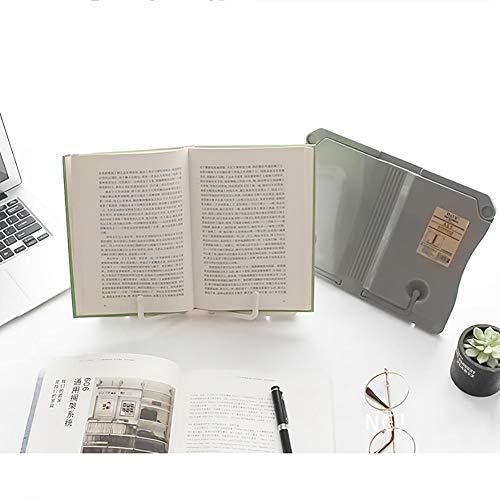 Soporte de Libro de Metal Multifunci/ón Soporte de Documento de Libro de Cocina Ajustable Port/átil para la Escuela de la Oficina en Casa DMFSHI Soporte de Libro para Lectura Atril para Libros Blanco