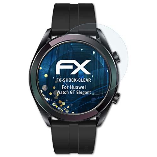 atFoliX Schutzfolie kompatibel mit Huawei Watch GT Elegant Folie, ultraklare FX Displayschutzfolie (3X)