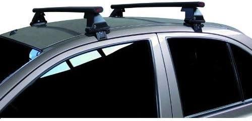 68.083 Compatible con Skoda Citigo 5p 2020 Barras Rack DE Techo para Coche Barra DE 130CM para Coches con Accesorio Directo AL Techo SIN BARANDA Rack DE Techo Acero Negro Aprobado
