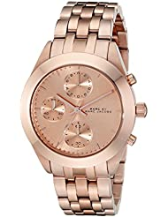 Marc by Marc Jacobs Womens MBM3394 Rose Gold-Tone Stainless Steel Watch with Link Bracelet
