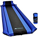 IFORREST Sleeping Pad w/Armrest & Pillow - Self Inflating Camping Pad is Ideal While Camping Hiking Backpacking - Never let Your Arm & Feet Feel The Ground - Premium Air Mattress