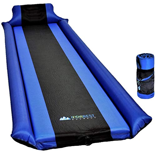 IFORREST Sleeping Pad with Armrest & Pillow – Never let Your Arms & Feet Feel The Ground - Comfortable Self-Inflating Air Mattress for Camping, Hiking, Traveling and Backpacking!