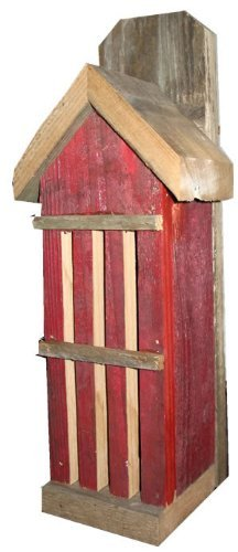 (Nature Gift Store Rustic Butterfly House from Recycled Fence Wood: RED Hand Made in Oklahoma)