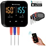 SMARTRO ST55 Bluetooth Digital Meat Thermometer for Oven Grill Kitchen Food Cooking Smoker BBQ with 3 Probes